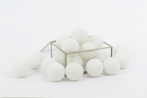 Zestaw lampek Cotton Balls All White