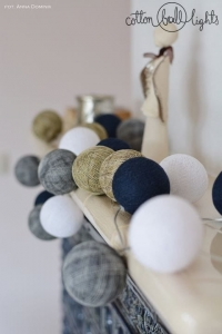 Zestaw lampek Cotton Balls Angels Lights By Scraperka