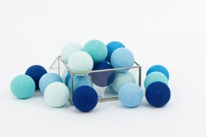 Zestaw lampek Cotton Balls Blue