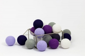 Zestaw lampek Cotton Balls Violets by Cottonove