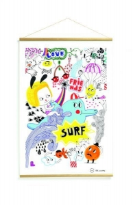 SURF'S PARTY - plakat - kakemono Little Big Room by Djeco