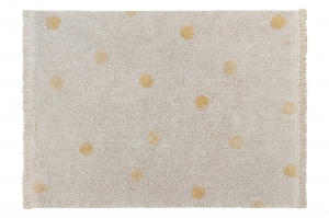 Lorena Canals Dywan bawełniany Hippy Dots Natural Honey 120 x 160 cm