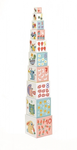 BABY BLOCKS - piramidka edukacyjna - Djeco